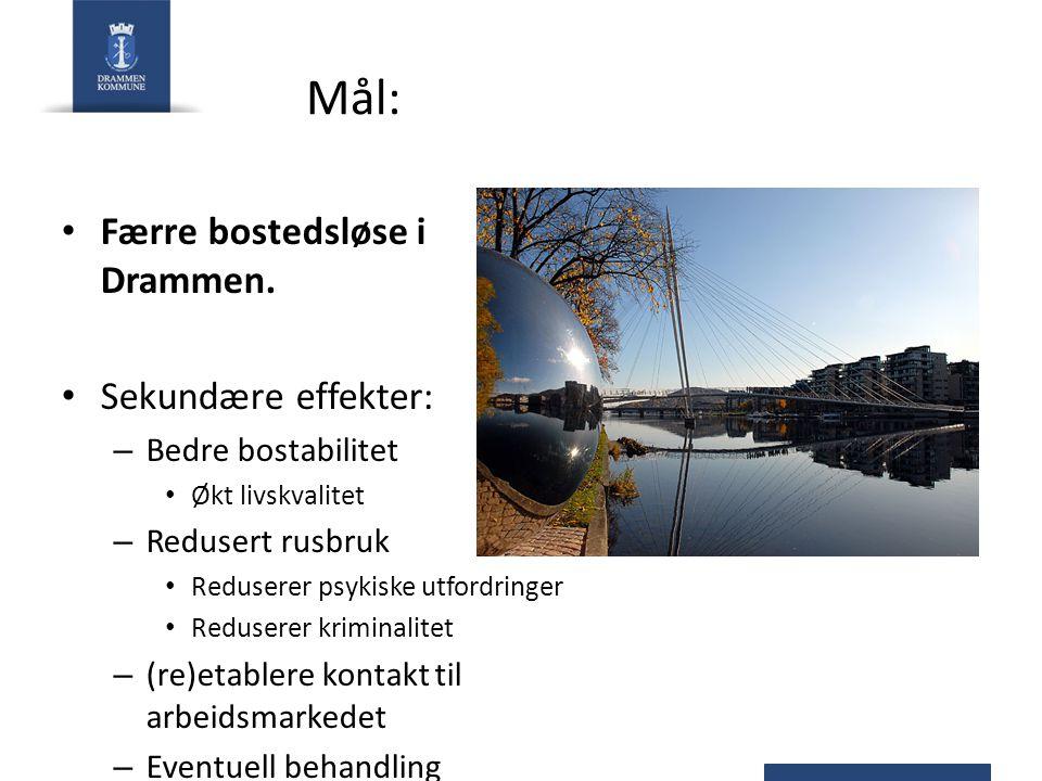 Mål: Færre bostedsløse i Drammen.