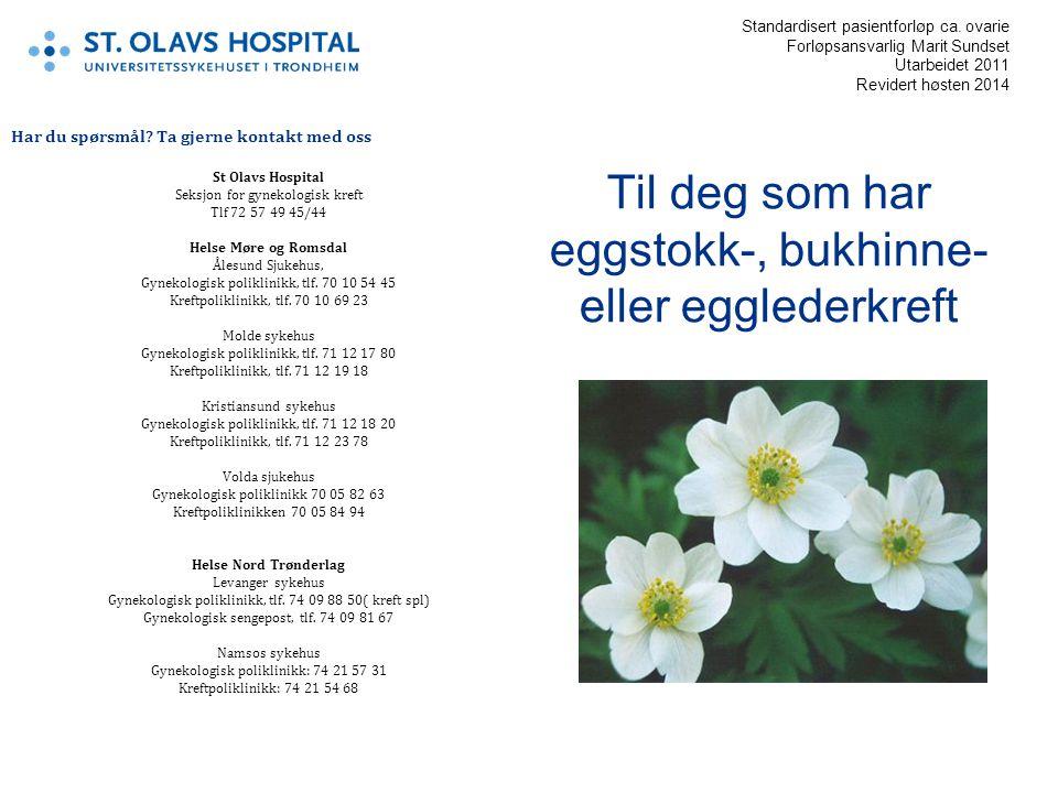 Eggstokkreft: Årlig rammes ca.450 norske kvinner av eggstokkreft.