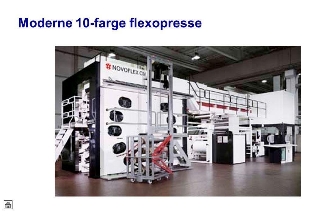 Moderne 10-farge flexopresse