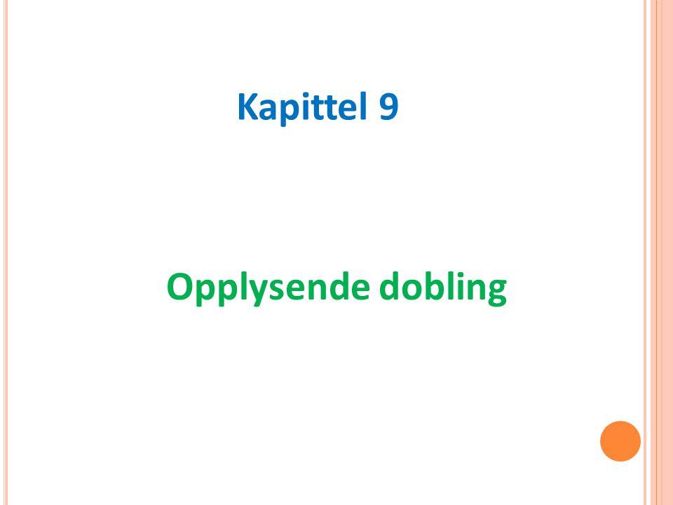 Opplysende dobling Kapittel 9