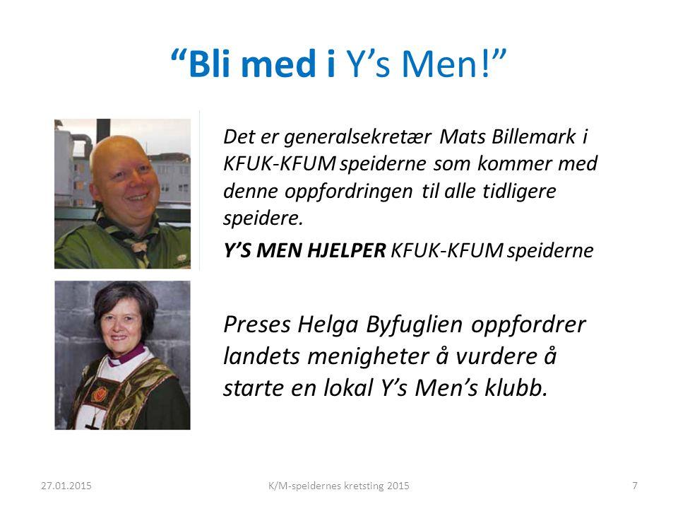 Bli med i Y's Men! Det er generalsekretær Mats Billemark i KFUK-KFUM speiderne som kommer med denne oppfordringen til alle tidligere speidere.