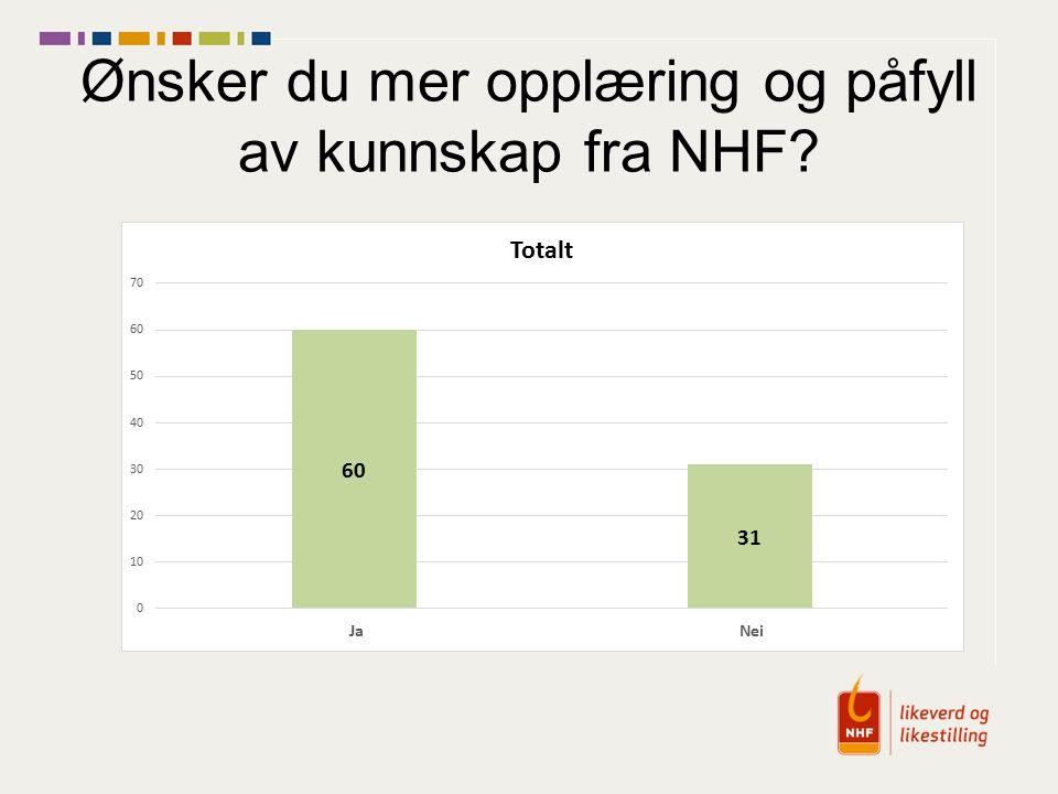 Ønsker du mer opplæring og påfyll av kunnskap fra NHF?