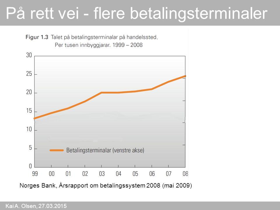 Kai A. Olsen, 27.03.2015 47 På rett vei - flere betalingsterminaler Norges Bank, Årsrapport om betalingssystem 2008 (mai 2009)