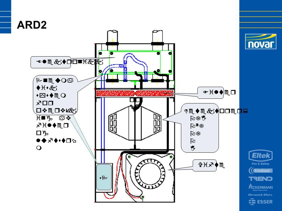 ARD2 Elektronikk Pneuma tisk system for overvåk ing av filter og luftstrø m Filter Vifte sPsP Detektorer: OTI O 2 T OT O I