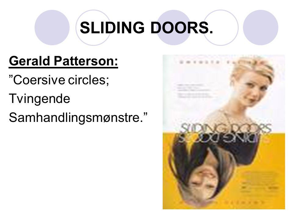 "SLIDING DOORS. Gerald Patterson: ""Coersive circles; Tvingende Samhandlingsmønstre."""