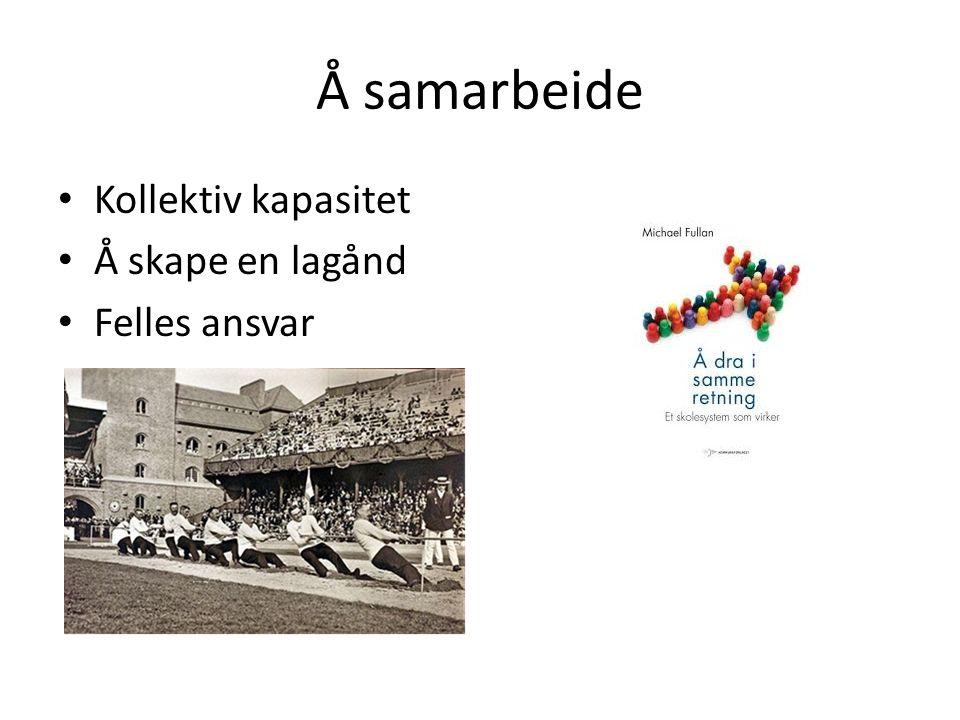 Å samarbeide Kollektiv kapasitet Å skape en lagånd Felles ansvar