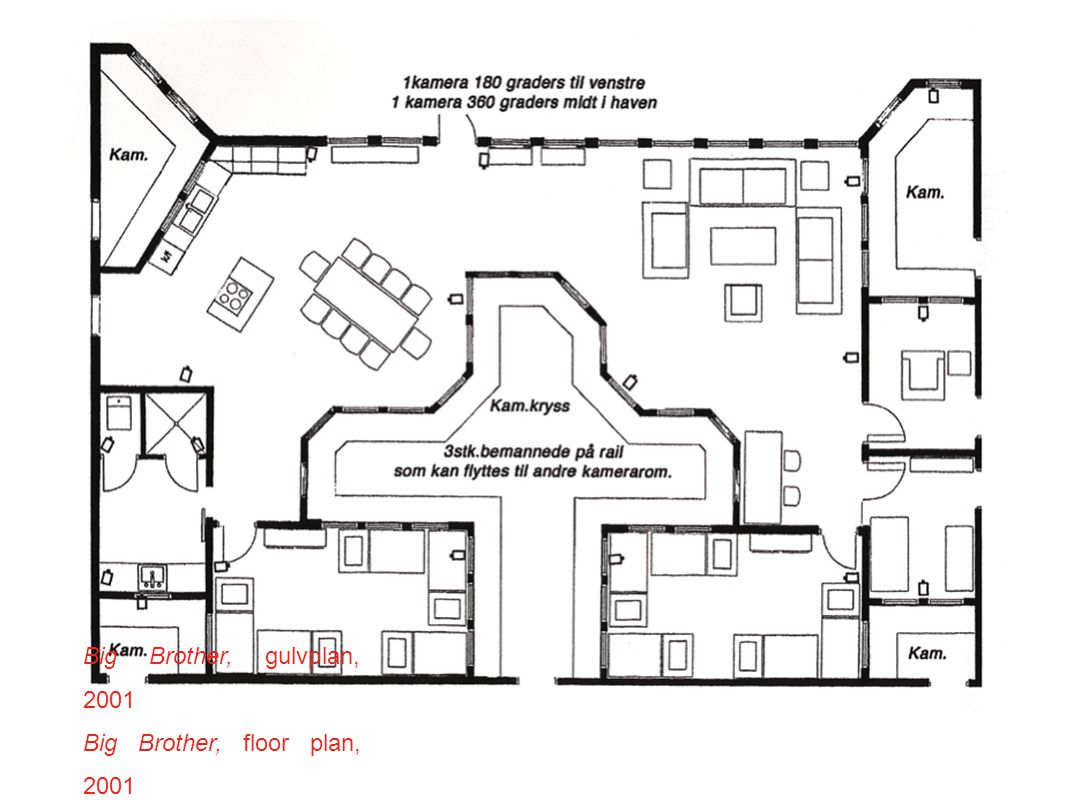 Big Brother, gulvplan, 2001 Big Brother, floor plan, 2001