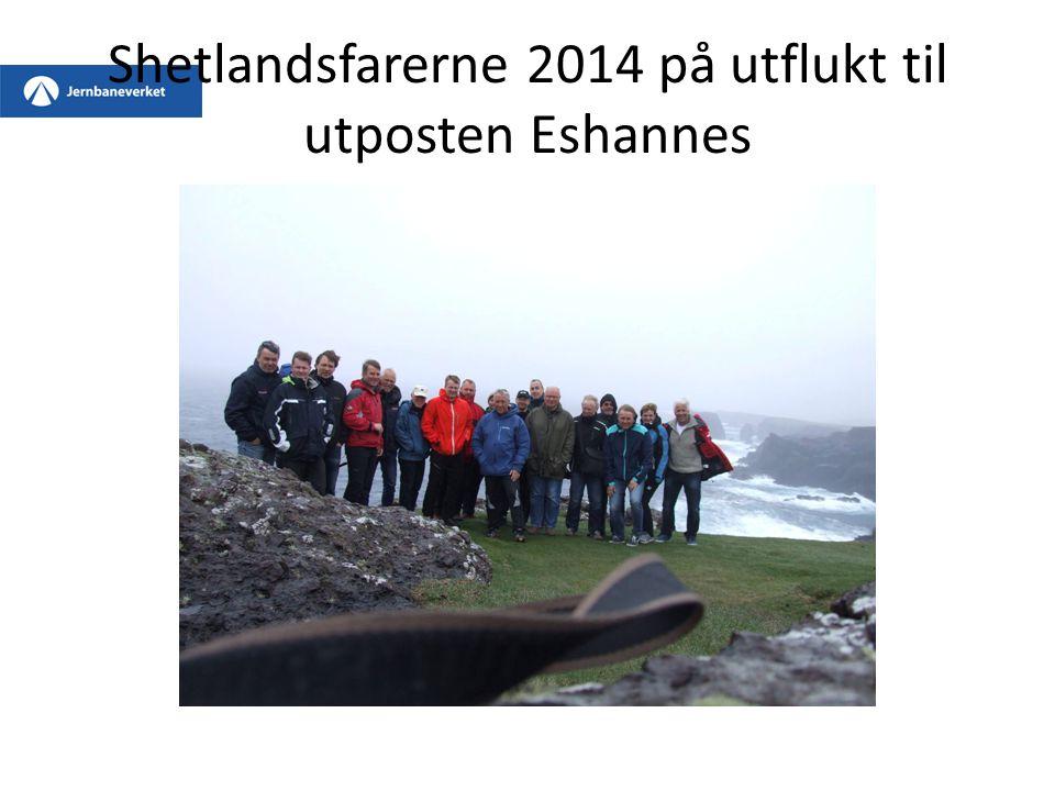 Shetlandsfarerne 2014 på utflukt til utposten Eshannes