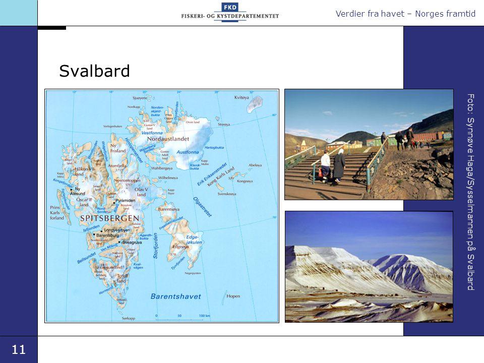 Verdier fra havet – Norges framtid 11 Foto: Synnøve Haga/Sysselmannen på Svalbard Svalbard