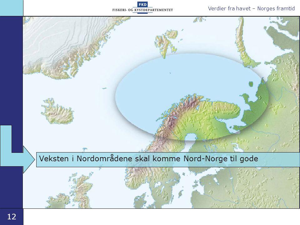 Verdier fra havet – Norges framtid 12 Veksten i Nordområdene skal komme Nord-Norge til gode