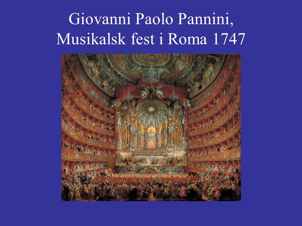 Giovanni Paolo Pannini, Musikalsk fest i Roma 1747