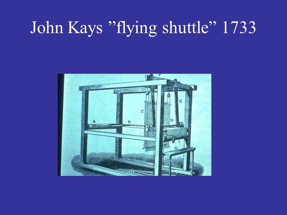 """John Kays """"flying shuttle"""" 1733"""