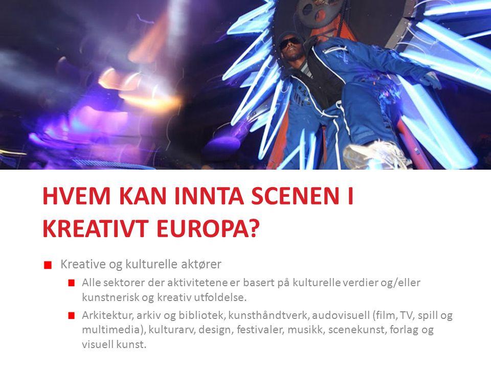 HVEM KAN INNTA SCENEN I KREATIVT EUROPA.