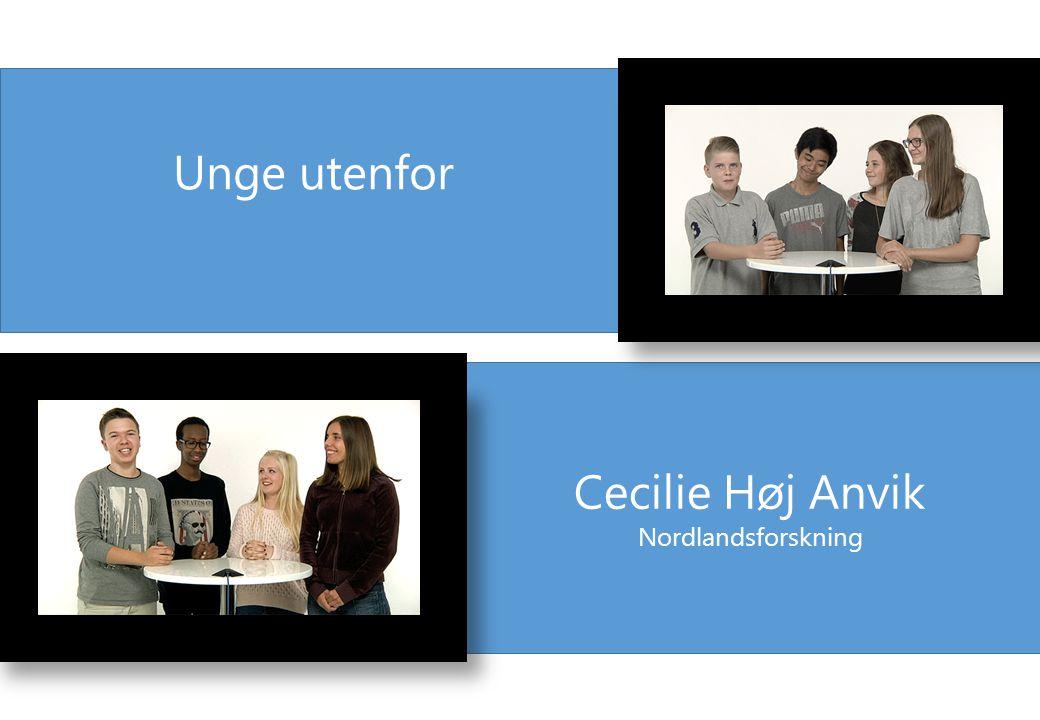 Unge utenfor Cecilie Høj Anvik Nordlandsforskning