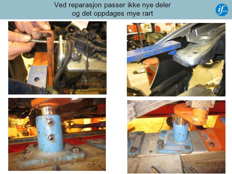 Kjøpers forpliktelser ved gjenoppbygging  Reparere det skadde kjøretøyet selv på eget verksted.