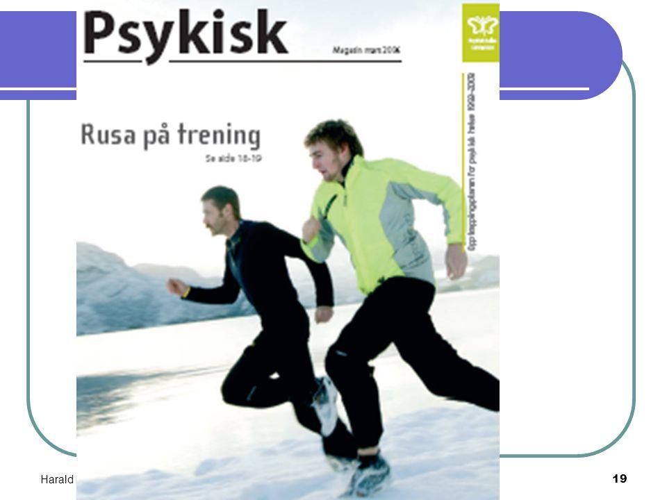 """Harald Munkvold mai 200618 David Hobler (grunnlegger og leder av org. """" runners in recovery"""", USA) ; """"To me, the calming hormones released during an h"""