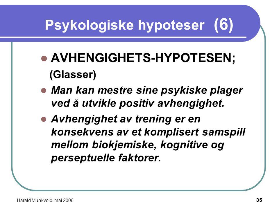 Harald Munkvold mai 200634 Kognitiv restrukturering; Mekanismer vi ser ved angstlidelser, særlig panikklidelser, og agorafobi. Dvs; fortolkning av kro