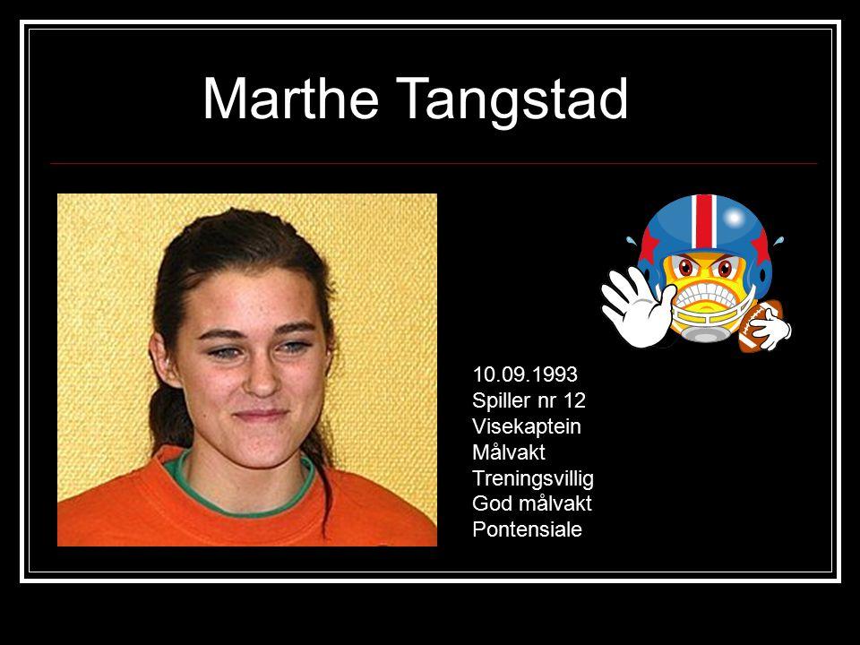 Anne Lien Hæhre 23.02.1993 Spiller nr 3 Venstre bakspiller/ving Treningsvillig Sterk Lærervillig
