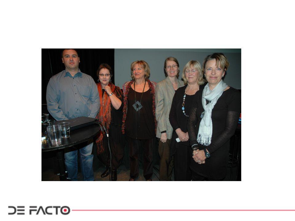 QPS Nordic – eksempel på gruppering av spørsmål: Spm 100: har du lagt merke til om menn og kvinner blir behandlet ulikt på arbeidsstedet ditt.