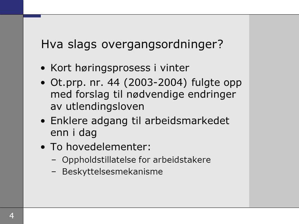 5 Overgangsregler for arbeidstakere Kan oppholde seg i Norge i inntil seks måneder som arbeidssøkende og søke tillatelse fra riket Må ha tillatelse før arbeidet begynner, men rask saksbehandling Vilkår om dokumentasjon, fulltidsarbeid, vanlige norske lønns- og arbeidsvilkår.