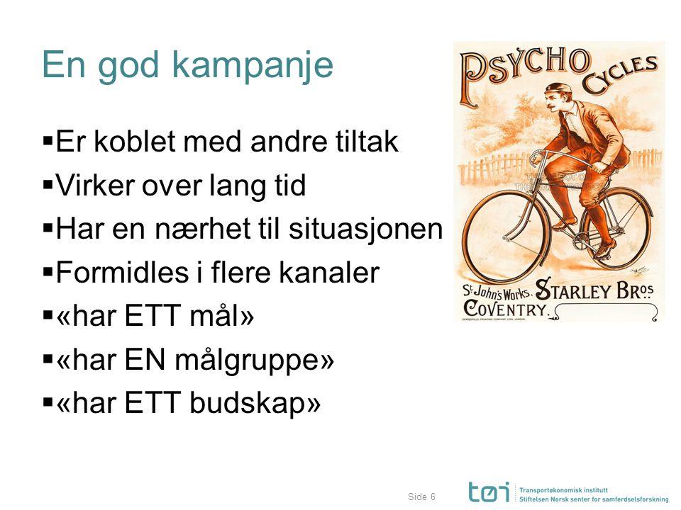 Atferdsendring fra SykleStøtten (Hesjevoll, 2015) η 2 =.07, p <.05