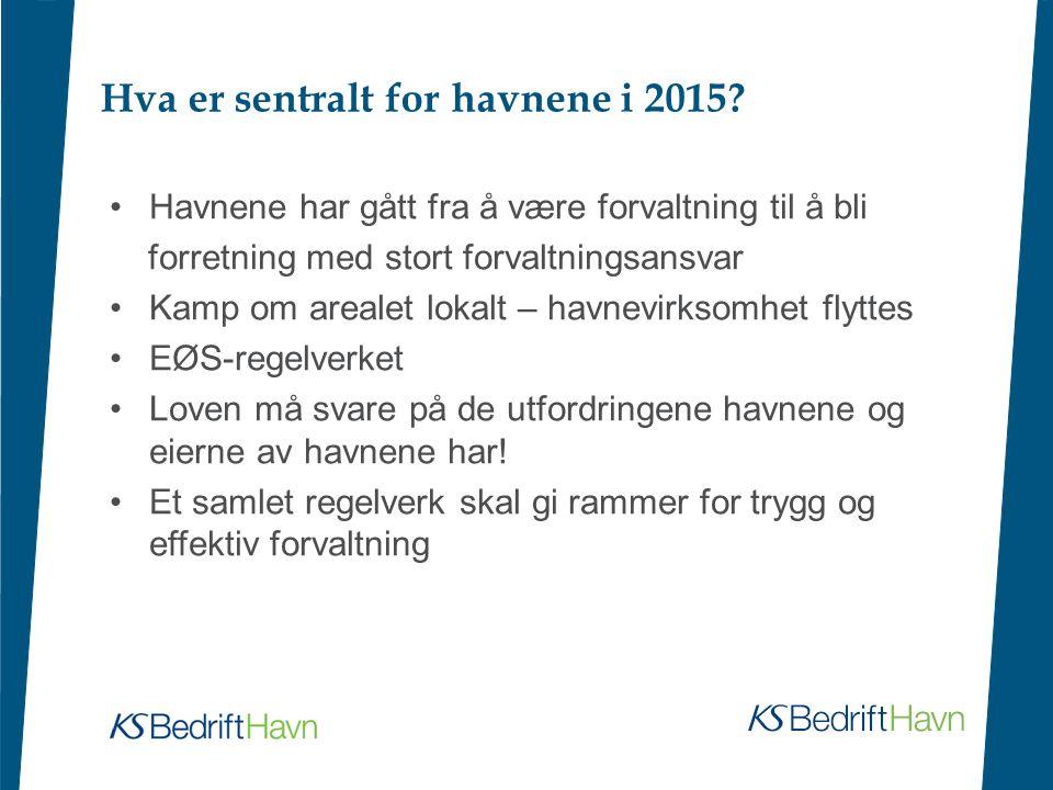 Hva er sentralt for havnene i 2015.