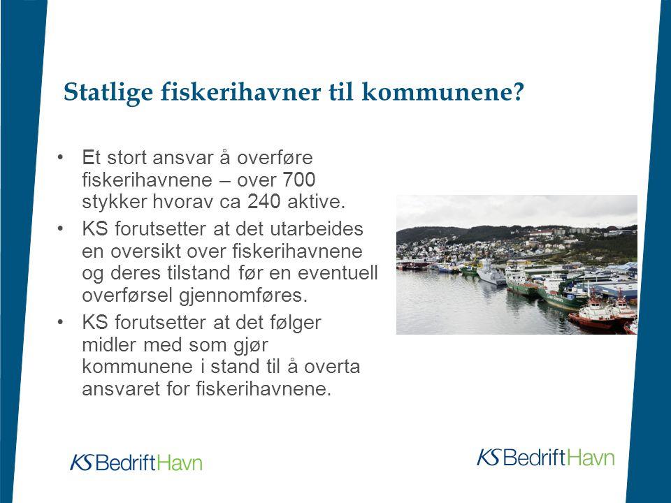 Statlige fiskerihavner til kommunene.