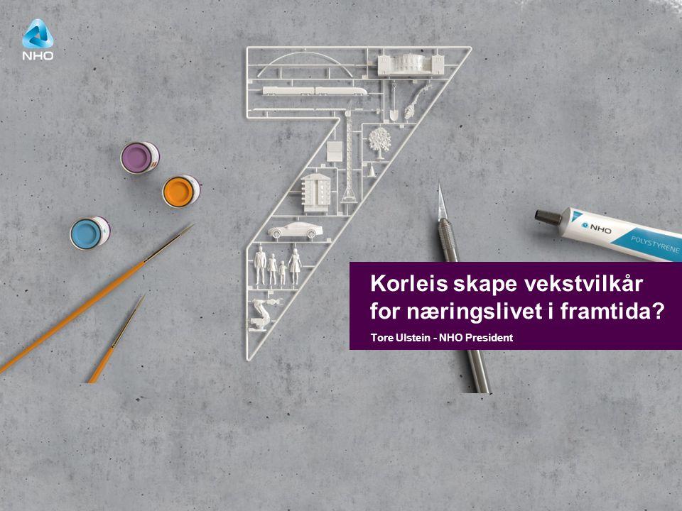 WWW.ULSTEIN.COM TURNING VISIONS INTO REALITY Tore Ulstein - NHO President Korleis skape vekstvilkår for næringslivet i framtida