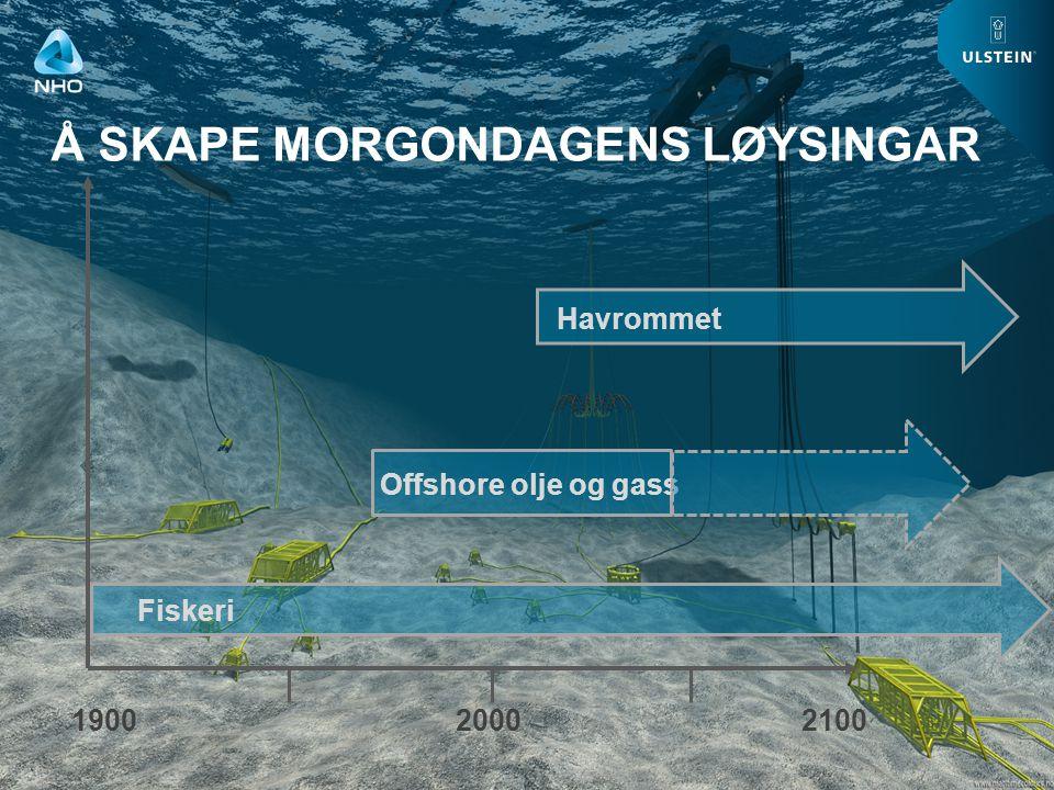 WWW.ULSTEIN.COM TURNING VISIONS INTO REALITY Å SKAPE MORGONDAGENS LØYSINGAR 190020002100 Fiskeri Offshore olje og gass Havrommet