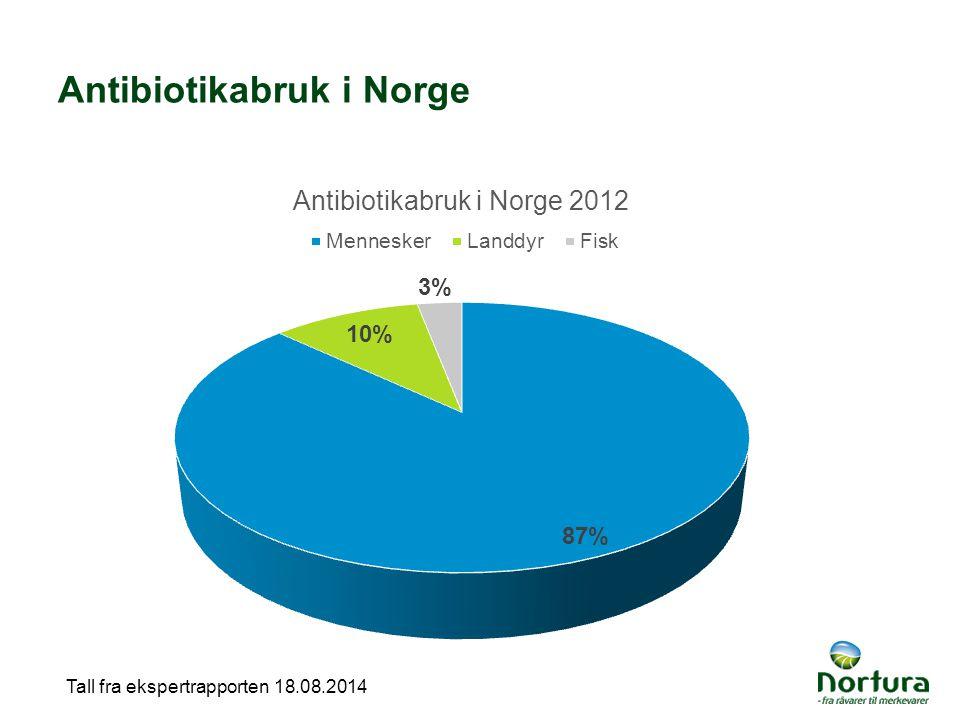 Antibiotikabruk i Norge Tall fra ekspertrapporten 18.08.2014