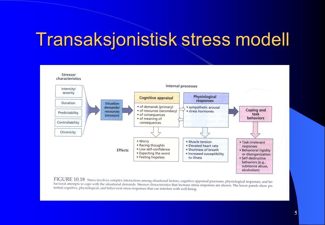 5 Transaksjonistisk stress modell