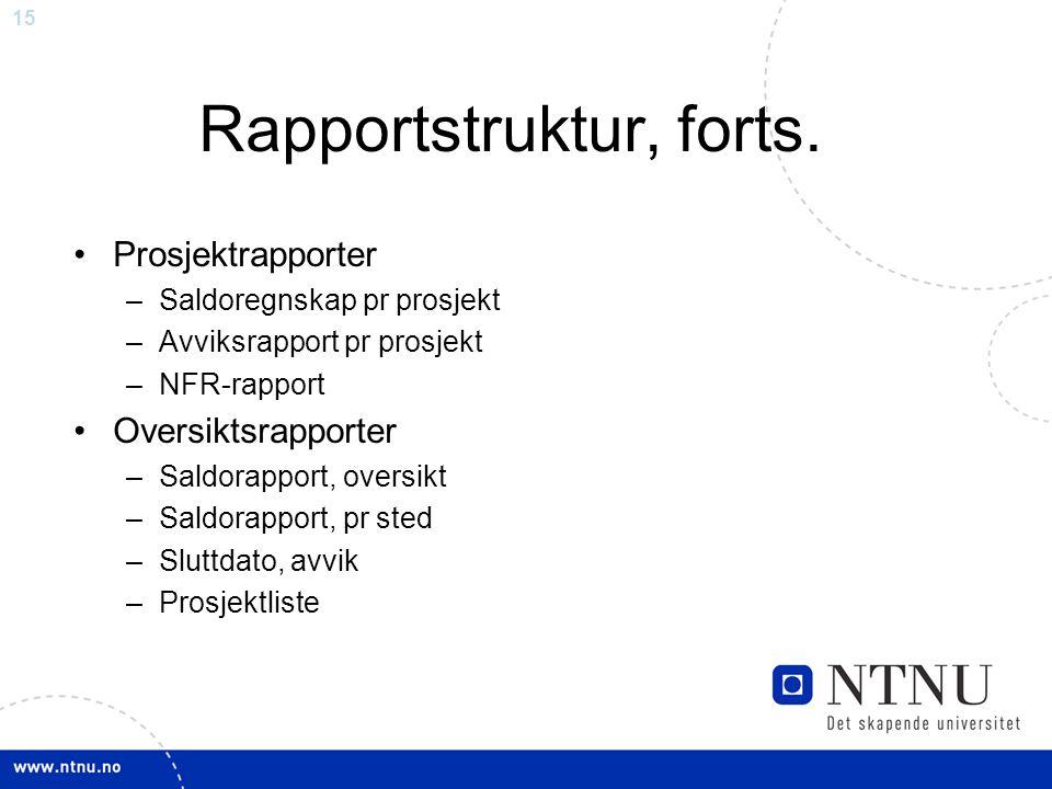 15 Rapportstruktur, forts.