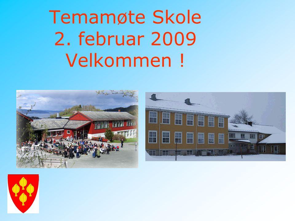 Temamøte Skole 2. februar 2009 Velkommen !