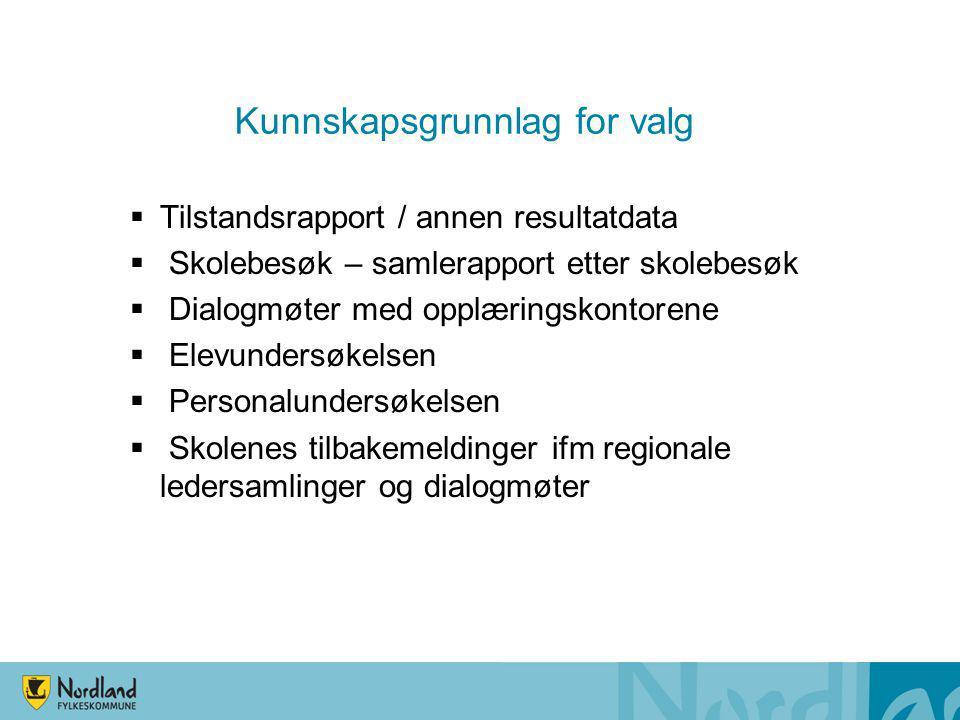 Andre planer - strategier Strategisk plan kompetanseutvikling i vgo 2014 – 2017 Strategisk plan vgo for voksne 2014 – 2016 FT-sak 142/2014: Styrking vgs som regionale utviklingsaktører FT-sak 214/2014: Innovasjonsstrategi for Nordland 2014 – 2010 FT-sak 12/205: Status og videre utvikling av rådgivningstjenesten