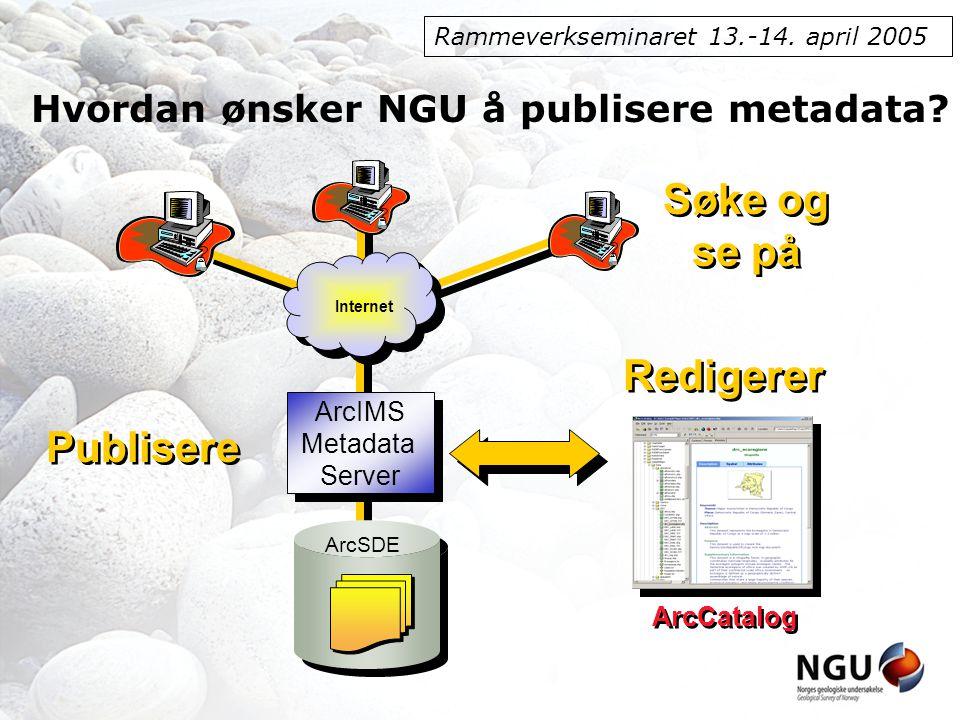Rammeverkseminaret 13.-14. april 2005 Se på metadata ESRI sin løsning Norsk_ISO_full