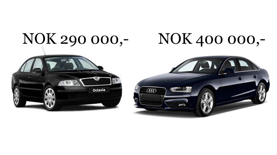 NOK 290 000,-NOK 400 000,-