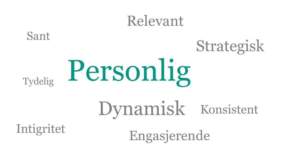 Personlig Dynamisk Relevant Sant Tydelig Konsistent Strategisk Intigritet Engasjerende