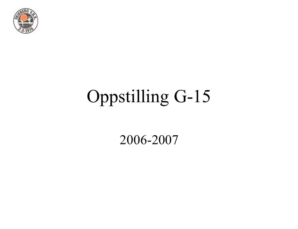 Oppstilling G-15 2006-2007