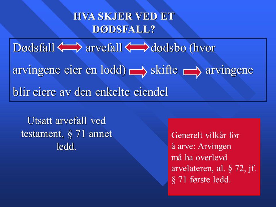 20 § 1.Næraste slektsarvingar er avkomet (livsarvingane) til arvelataren.