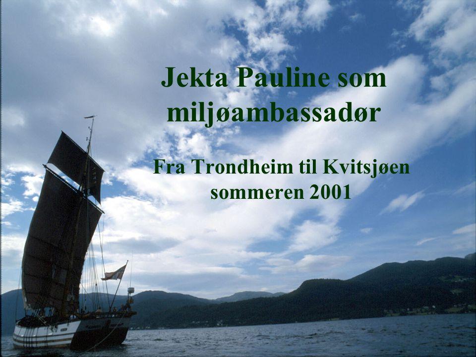 Jekta Pauline som miljøambassadør Fra Trondheim til Kvitsjøen sommeren 2001