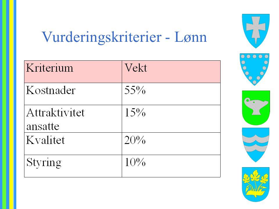 Vurderingskriterier - Lønn