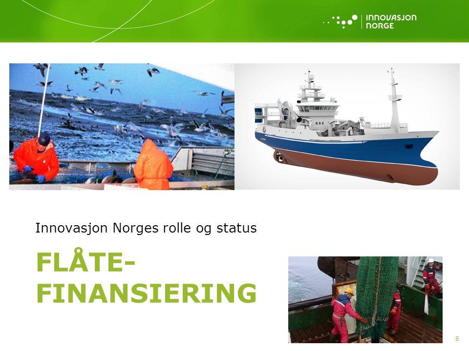 Finansiering av fiskeflåten Videreføring av Statens Fiskarbank som inngikk i Innovasjon Norge fra og med 1997.