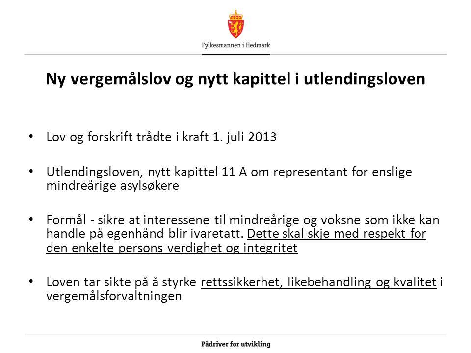 Ny vergemålslov og nytt kapittel i utlendingsloven Lov og forskrift trådte i kraft 1.