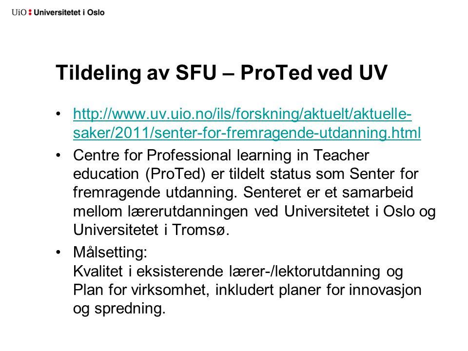 Styrking av Fagområdet for universitetspedagogikk (FUP) 2012-14 Styret øremerket 2 mill 2012-14 for å styrke FUPs virksomhet overfor fakultetene og deres arbeid med studiekvalitet.