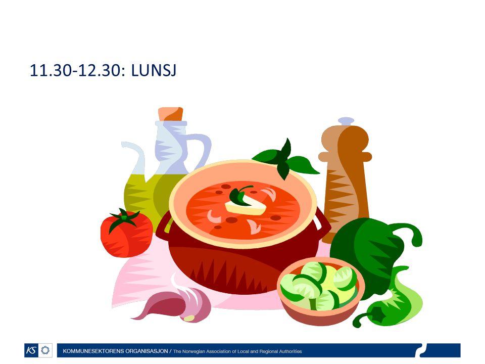EffektiviseringsNettverkene 2011 11.30-12.30: LUNSJ