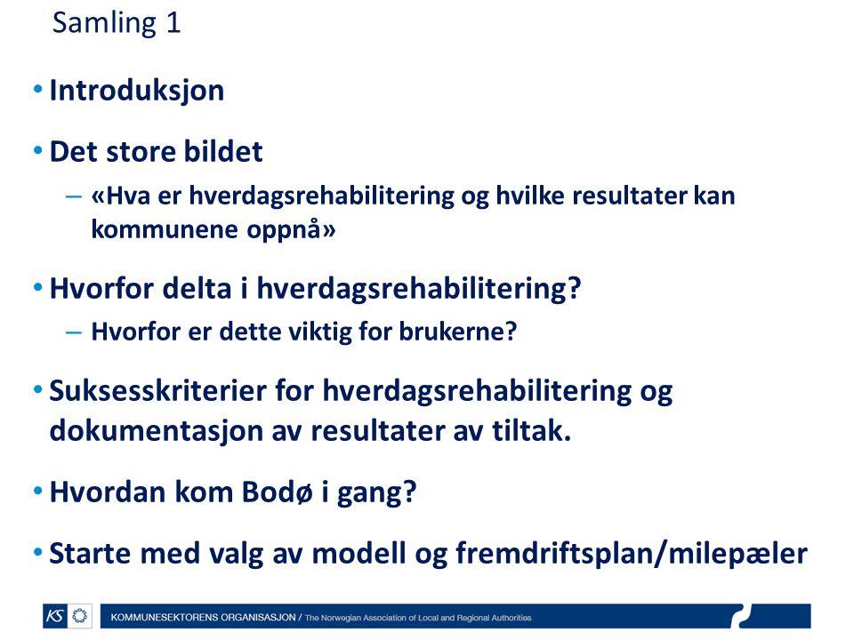 EffektiviseringsNettverkene 2011 Erfaringer fra andre kommuner på neste samling Kan en av dere som har kommet langt, f.eks.