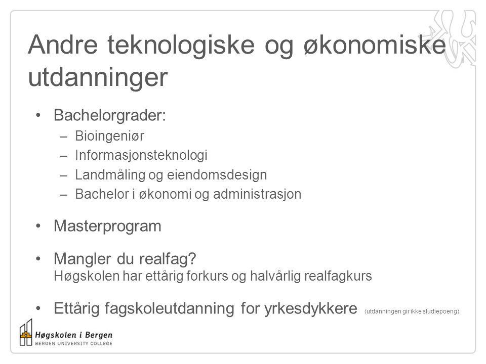 Grunnskolelærerutdanning Høgskolen tilbyr: Grunnskolelærer 1.-7 trinn Grunnskolelærer 5.-10 trinn Grunnskolelærer med musikk Masterprogram