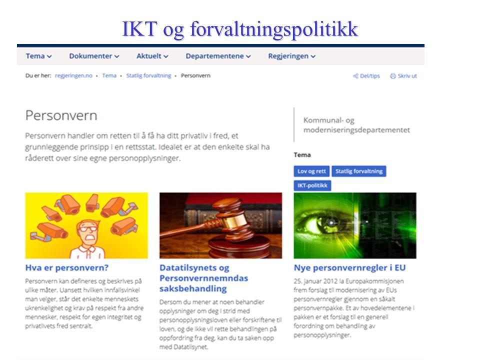 IKT og forvaltningspolitikk