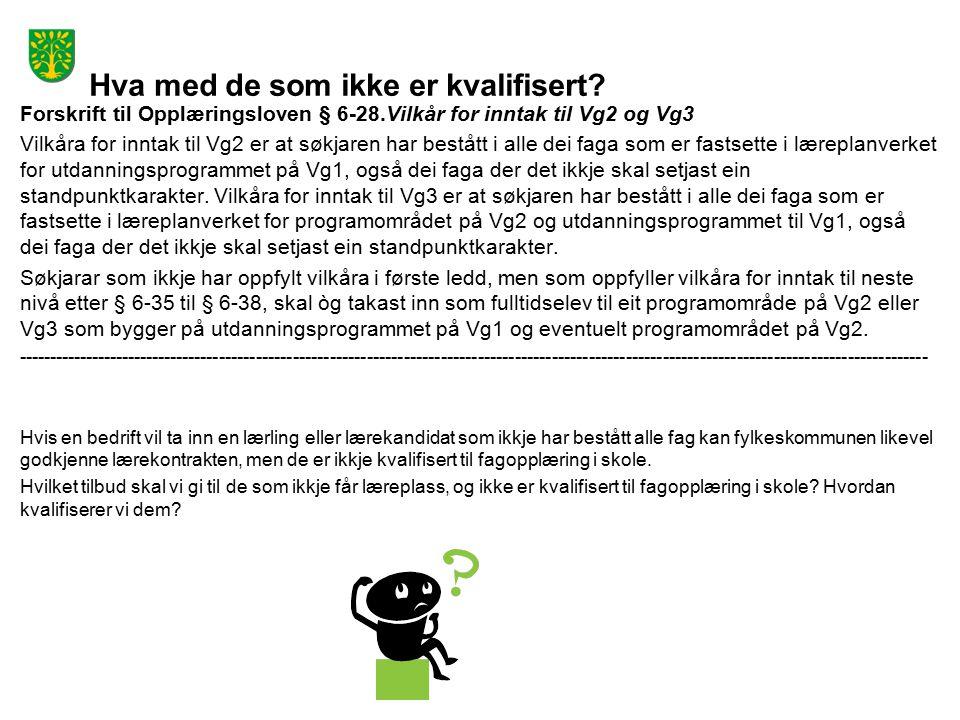 Dialog Flytskjema for læreplasskurs Søkere til læreplass Får læreplass Kvalifisert.
