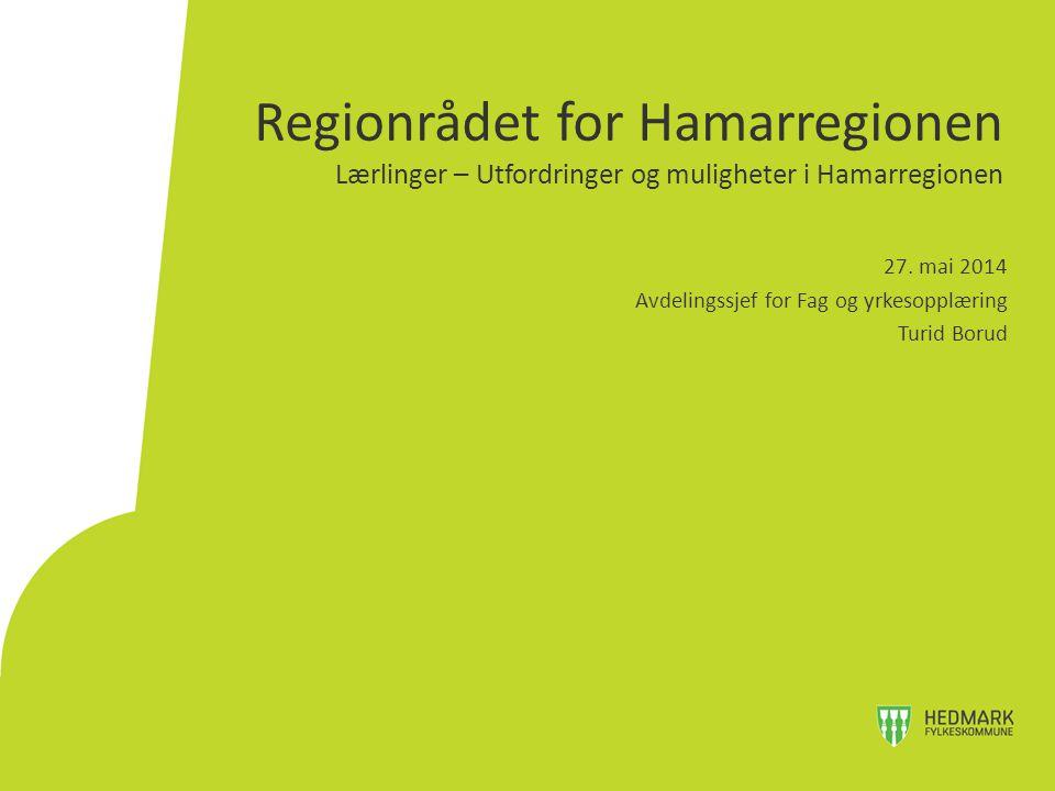Regionrådet for Hamarregionen Lærlinger – Utfordringer og muligheter i Hamarregionen 27.